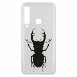 Чехол для Samsung A9 2018 Bugs silhouette