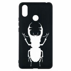 Чехол для Xiaomi Mi Max 3 Bugs silhouette