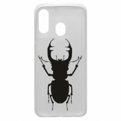 Чехол для Samsung A40 Bugs silhouette