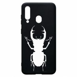Чехол для Samsung A60 Bugs silhouette