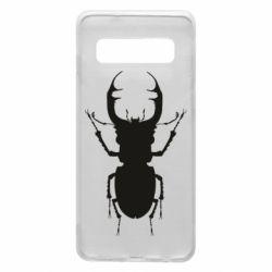 Чехол для Samsung S10 Bugs silhouette