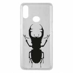 Чехол для Samsung A10s Bugs silhouette