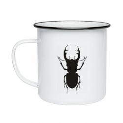 Кружка эмалированная Bugs silhouette
