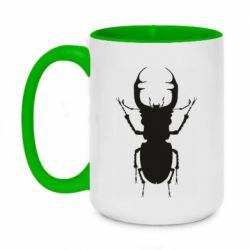 Кружка двухцветная 420ml Bugs silhouette