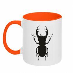 Кружка двухцветная 320ml Bugs silhouette