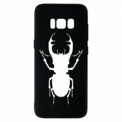 Чехол для Samsung S8 Bugs silhouette