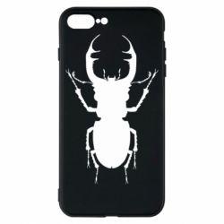 Чехол для iPhone 8 Plus Bugs silhouette