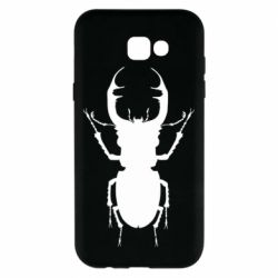 Чехол для Samsung A7 2017 Bugs silhouette