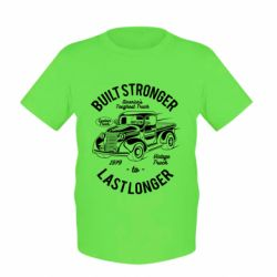 Дитяча футболка Built Stronger