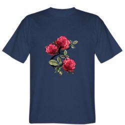Мужская футболка Буква Е с розами