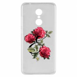 Чехол для Xiaomi Redmi 5 Буква Е с розами