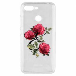 Чехол для Xiaomi Redmi 6 Буква Е с розами