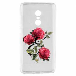 Чехол для Xiaomi Redmi Note 4 Буква Е с розами