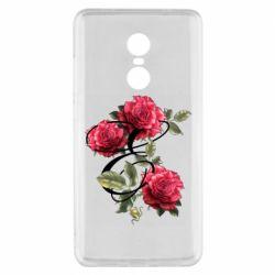 Чехол для Xiaomi Redmi Note 4x Буква Е с розами