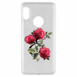 Чехол для Xiaomi Redmi Note 5 Буква Е с розами