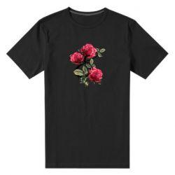 Мужская стрейчевая футболка Буква Е с розами