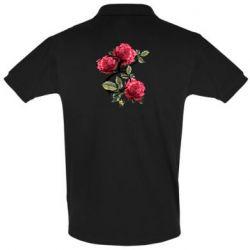 Мужская футболка поло Буква Е с розами