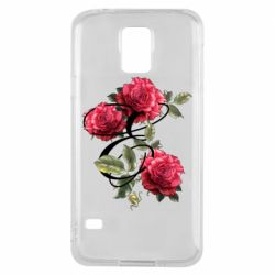 Чехол для Samsung S5 Буква Е с розами
