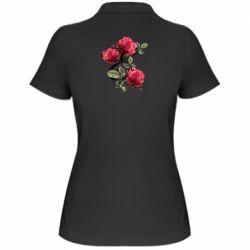 Женская футболка поло Буква Е с розами