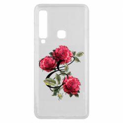 Чехол для Samsung A9 2018 Буква Е с розами