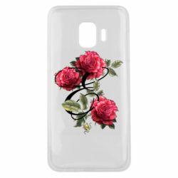Чехол для Samsung J2 Core Буква Е с розами