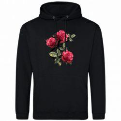 Мужская толстовка Буква Е с розами