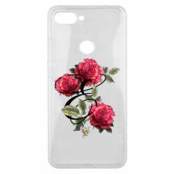 Чехол для Xiaomi Mi8 Lite Буква Е с розами