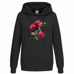 Женская толстовка Буква Е с розами