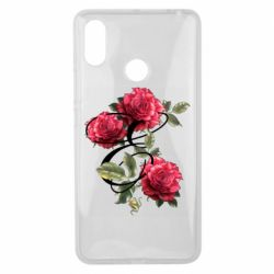 Чехол для Xiaomi Mi Max 3 Буква Е с розами