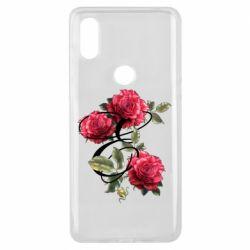 Чехол для Xiaomi Mi Mix 3 Буква Е с розами