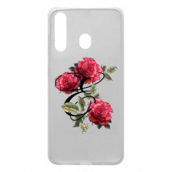 Чехол для Samsung A60 Буква Е с розами