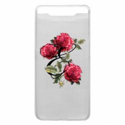 Чехол для Samsung A80 Буква Е с розами