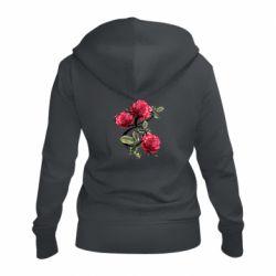 Женская толстовка на молнии Буква Е с розами