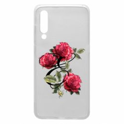 Чехол для Xiaomi Mi9 Буква Е с розами