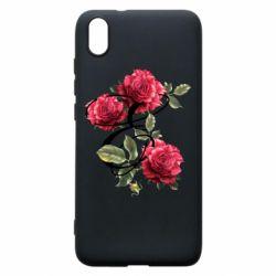Чехол для Xiaomi Redmi 7A Буква Е с розами