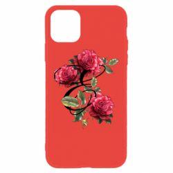 Чехол для iPhone 11 Буква Е с розами