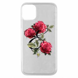 Чехол для iPhone 11 Pro Буква Е с розами