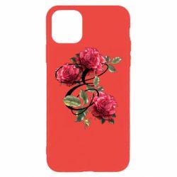 Чехол для iPhone 11 Pro Max Буква Е с розами