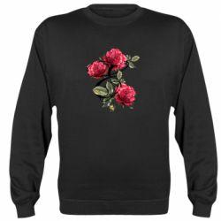 Реглан (свитшот) Буква Е с розами