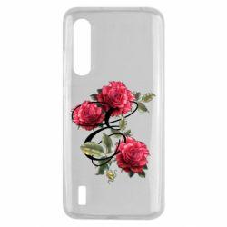 Чехол для Xiaomi Mi9 Lite Буква Е с розами