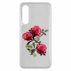 Чехол для Xiaomi Mi9 SE Буква Е с розами