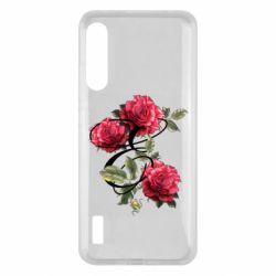 Чохол для Xiaomi Mi A3 Буква Е с розами