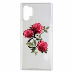 Чехол для Samsung Note 10 Plus Буква Е с розами