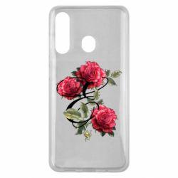 Чехол для Samsung M40 Буква Е с розами
