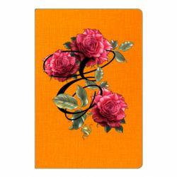 Блокнот А5 Буква Е с розами