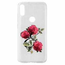 Чехол для Xiaomi Mi Play Буква Е с розами