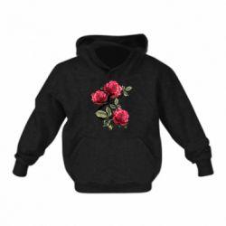 Детская толстовка на флисе Буква Е с розами
