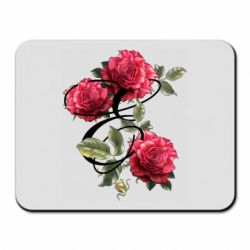 Коврик для мыши Буква Е с розами