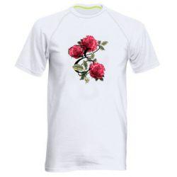Мужская спортивная футболка Буква Е с розами