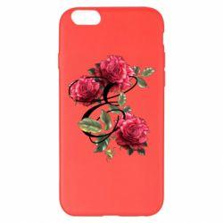 Чехол для iPhone 6 Plus/6S Plus Буква Е с розами